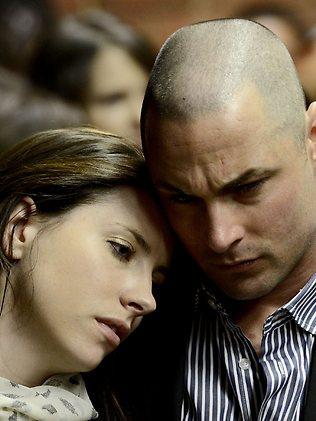 Aimee and Carl Pistorius have been in court each day. The strain has showed.