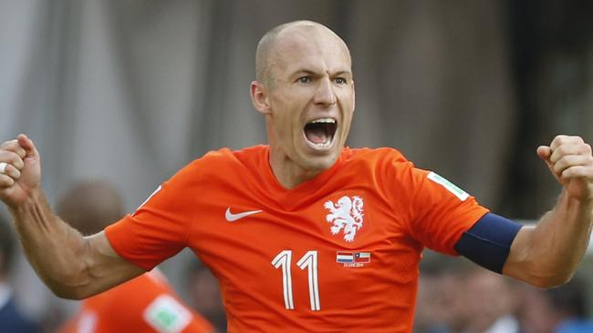 Arjen Robben's blistering speed has provided headaches for every team he has played. Picture: Wong Maye.