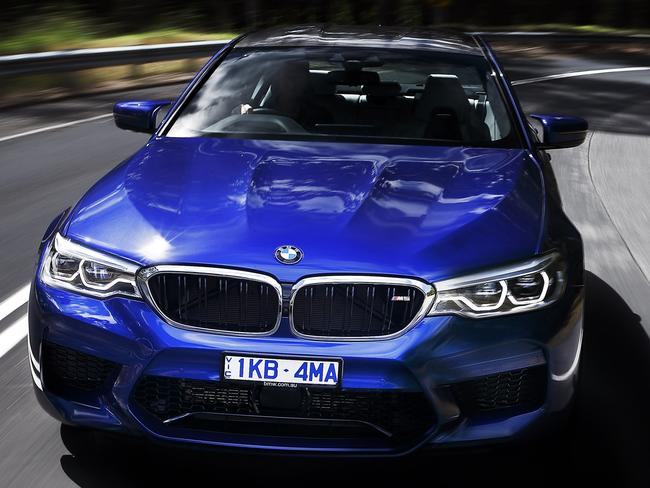 All-wheel drive endows the M5 with the grip needed to contain 750Nm.