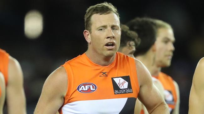 Could Steve Johnson miss out on being in GWS' best 22 come September? (AAP Image/David Crosling)