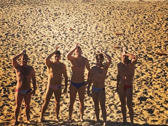 Nick is joined each weekend by some of his Bate Bay Body Bash (BBBB) mates. Picture: Keeland Tracy