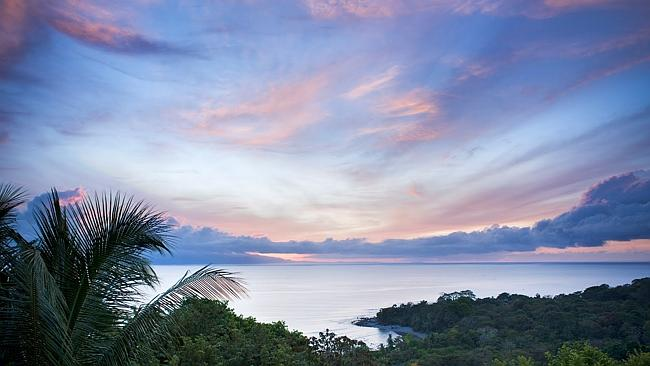 Sunrise in the jungle at Lapa Rios nature reserve. Picture: Lizzie Shepherd / Robert Harding World Imagery / Getty Images