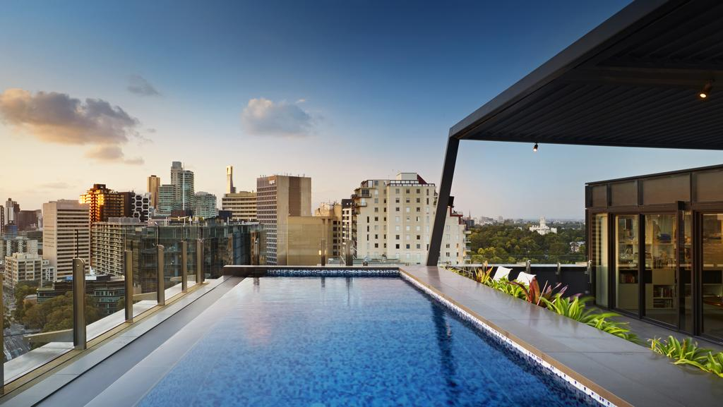 Melbourne penthouse for sale with private rooftop swimming pool herald sun for Swimming pool builder melbourne
