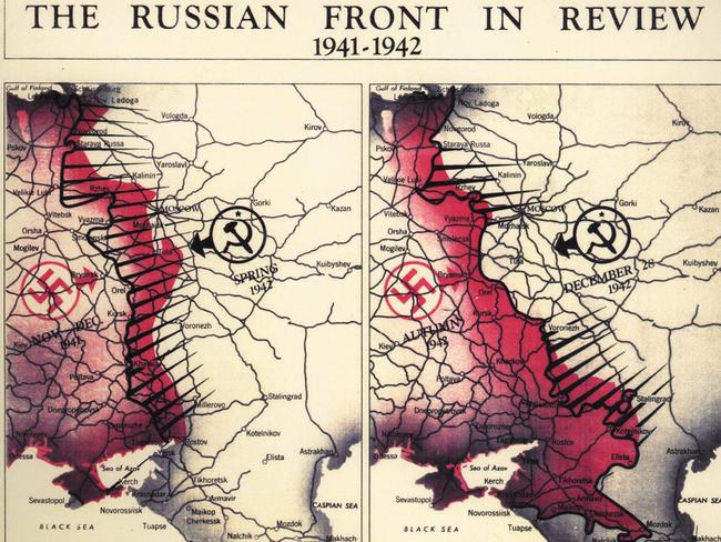 The Russian front in 1941-1942. Picture: CIA