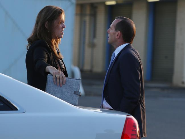 Tony Abbott and Peta Credlin are both unhappy with what's been published. Picture: Gary Ramage
