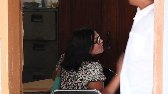 Schapelle Corby visiting her parole officer in Bali this week.