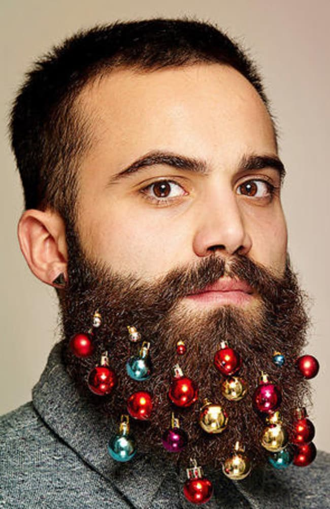 The beard bauble is the ideal pressie for your hairy angel.
