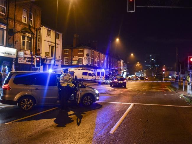 A part of Hagley Rd, Birmingham was sealed off. Picture by Michael Scott/Caters News