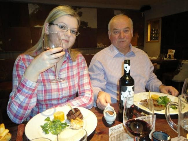 Ex-Russian spy Sergei Skripal and his daughter Yulia were found unconscious at a British shopping centre. Picture: Supplied