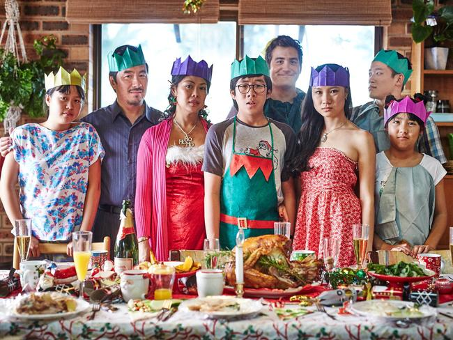 Familiar story ... the cast of upcoming series The Family Law, which its creator Benjamin Law says has themes that many Australians could relate to.