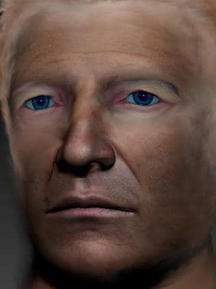 A digital image of how the Somerton Man may have looked. Picture: Gordon Cramer
