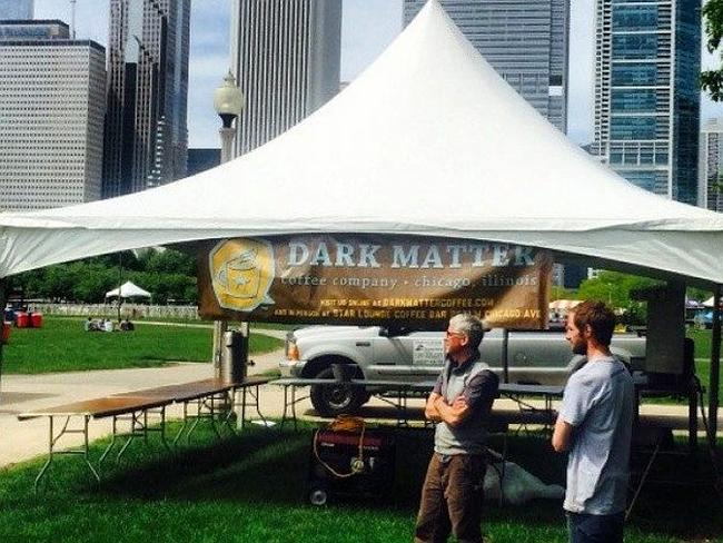 Coffee guru ... Chicago's Dark Matter Coffee posted this picture to Facebook while callin
