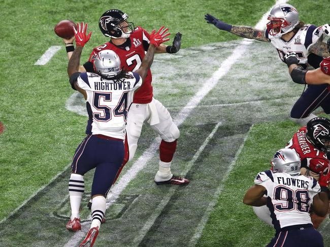 Dont'a Hightower changed the game by strip sacking Matt Ryan on this play.