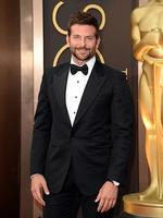 Bradley Cooper on the red carpet at the Oscars 2014. Picture: Getty