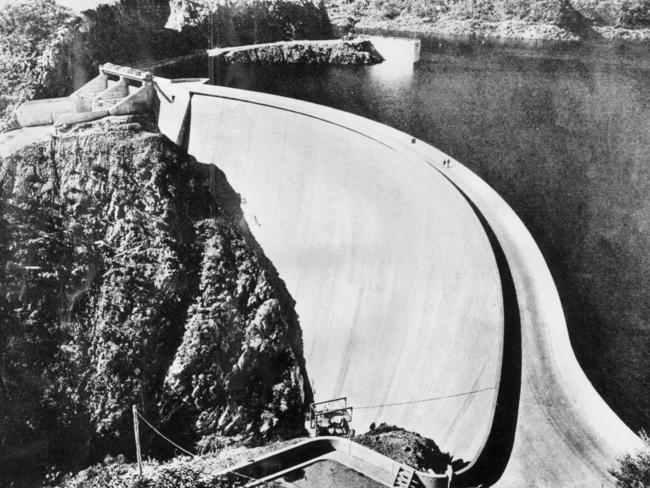 An engineering marvel: A photo of Tumut Pond Dam in January 1963, which was built as part of the Snowy Mountains Hydro-Electric Scheme.