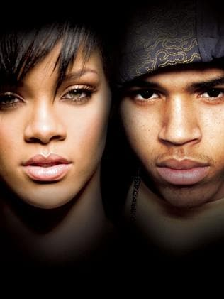 Singers Rihanna and Chris Brown in 2008