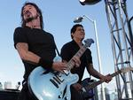 <p>US band Foo Fighters to perform an intimate gig at Goat Island, Sydney Harbour tonight. Dave Grohl (lead vocals/guitar). Picture: Adam Ward</p>
