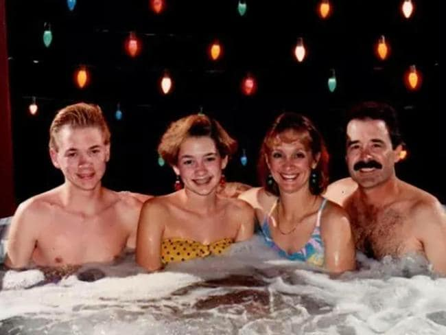 Why not send your friends and family a picture of you all getting wrinkly in a hot tub? Picture: Sun UK