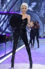 Lady gaga performs on the runway during the 2016 Victoria's Secret Fashion Show on November 30, 2016 in Paris, France. Picture: Getty