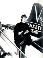 George Harrison from the Beatles lands in Australia in 1964. Picture: News Corp