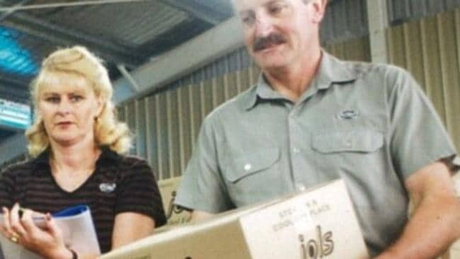 Bruce and Vicki Edward in 1996, processing Ferndale Confectionery's first order. Picture: Supplied