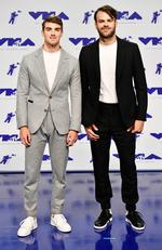 Andrew Taggartand Alex Pall of The Chainsmokers attend the 2017 MTV Video Music Awards at The Forum on August 27, 2017 in Inglewood, California. Picture: Getty