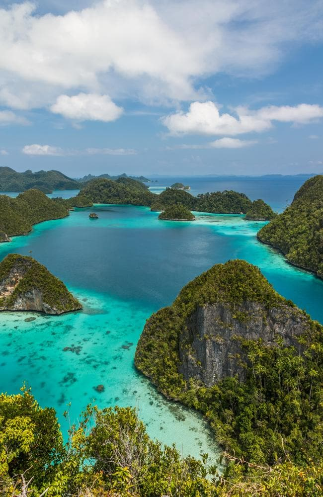 The stunning scenery from peak Pindito of Wayag island on the north of Raja Ampat, Indonesia. Picture: iStock.