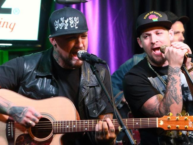 Rockers at heart ... Benji Madden, left, and Joel Madden in Philadelphia. Picture: AP