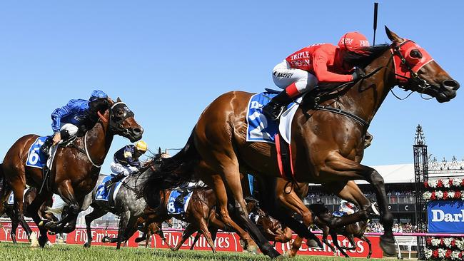 Redzel beat a star-studded field to notch his sixth win in a row on Saturday at Flemington.