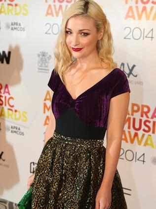 Rocking up ... Kate Miller-Heidke arrives at the APRA Awards at Brisbane City Hall. Picture: Chris Hyde/Getty Images