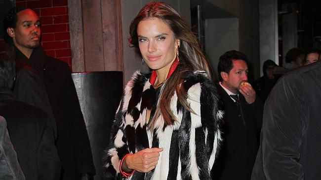 Alessandra Ambrosio arrives at the Victoria's Secret after party at Tao. Photo: Splash News