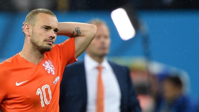 Netherlands' midfielder Wesley Sneijder.