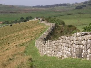 The real deal ... Hadrian's Wall in Scotland not only served a similar purpose to that in  <i>Game of Thrones</i> (keeping the barbarians out), it looks remarkably similar on maps. Just not from the ground.