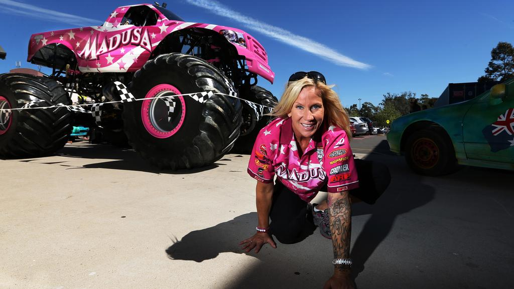 Former WWE female wrestler Debrah Miceli or Madusa now driving