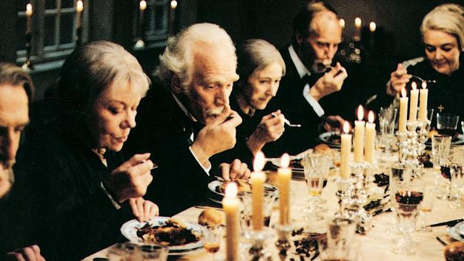 A scene from the film Babette's Feast (1987).