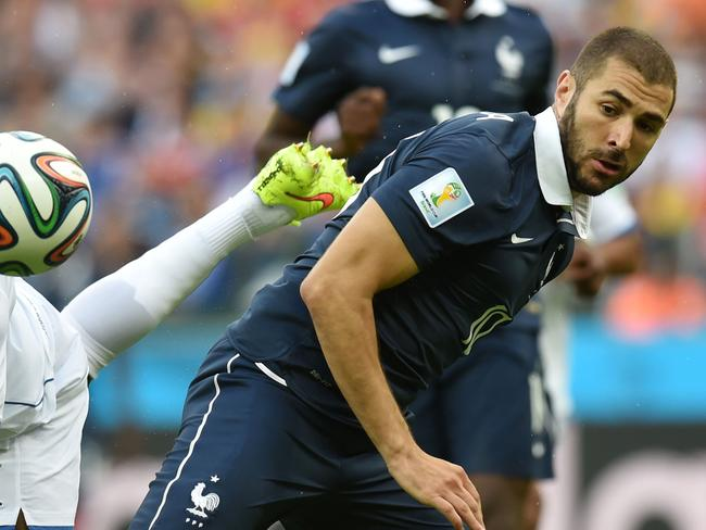 Suddenly, Karim Benzema is dominating for France.