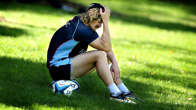 An injured Berrick Barnes was not ready to take on the Brumbies this weekend. Picture: Gregg Porteous
