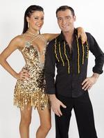 On the set of Dancing With The Stars: 2009 champions Jade Hatcher and Adam Brand's courtship sizzled both on and off the dancefloor. The pair married in May last year after a whirlwind courtship that took place on the dance floor of the Seven Network's DWTS. The 20-year age gap proved too much, however, with Hatcher moving back in with her parents just 18 months after exchanging vows. Picture: Supplied