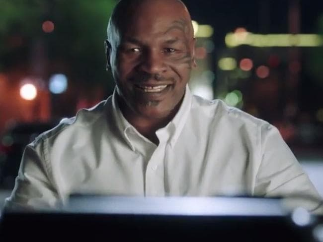 The use of Mike Tyson in the campaign has been questioned. Picture: YouTube