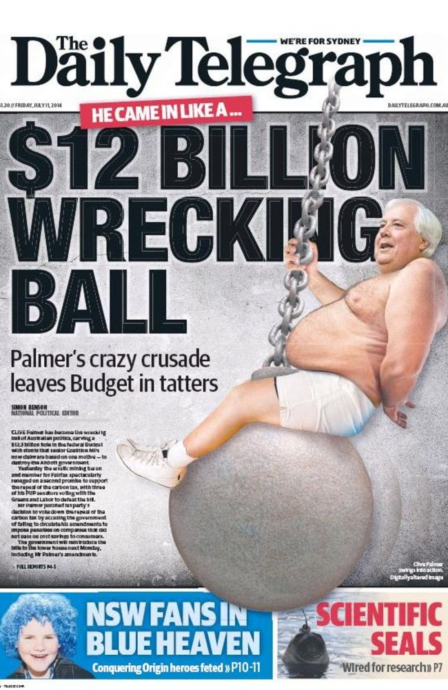The stuff of nightmares … The cover of today's  <i>Daily Telegraph</i>.