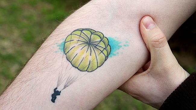 The tattoo on Brad's arm. Picture: Ian Currie