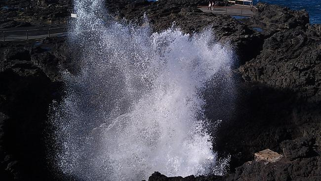 "Prepared to get wet at the Kiama's ""big blowhole"". Picture: Flickr Kiamalibrary"