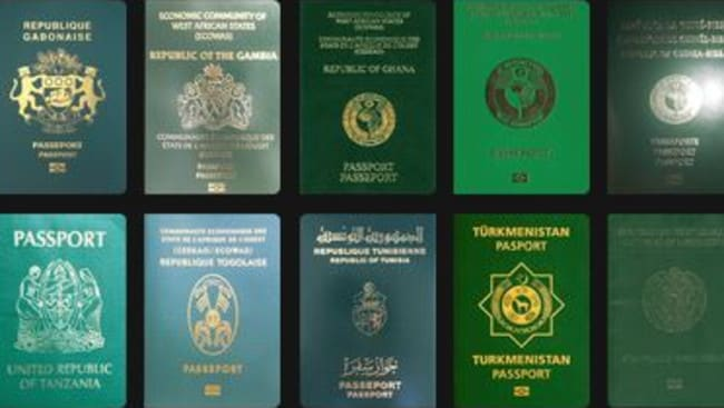 Some countries with green passports chose the colour for religious reasons. Picture: Passport Index