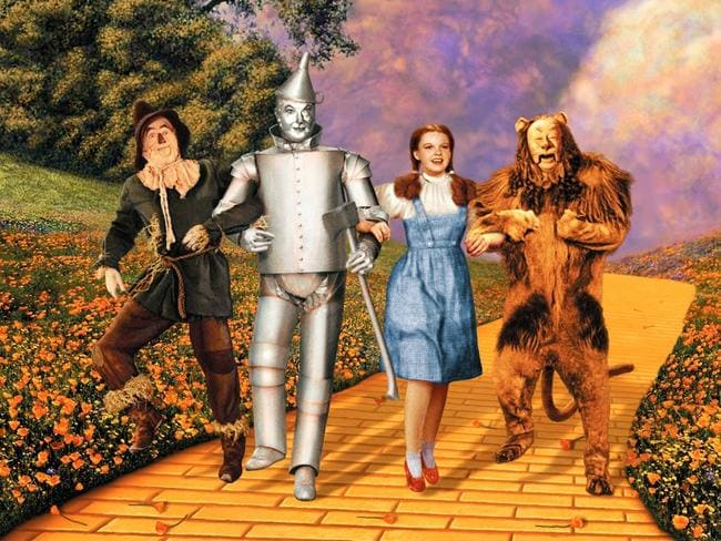 The original Wizard of Oz cast with Judy Garland as Dorothy. Picture: Supplied