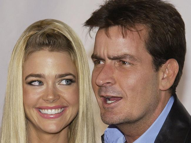 In happier times ... Charlie Sheen and Denise Richards have two daughters together. Picture: Vince Bucci/Getty Images