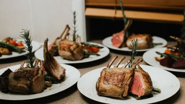 Dani and Chris wanted to make sure there was plenty of food, so they catered for 200 people, to ensure the 120 guests didn't leave hungry. Picture: Bulb Creative