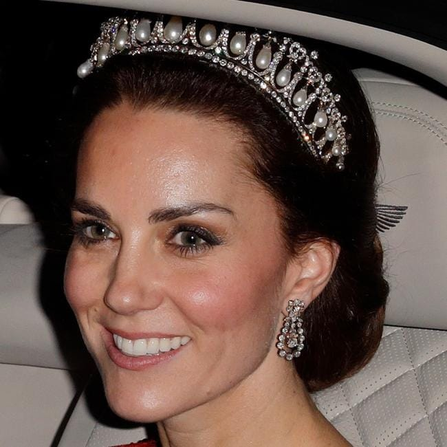 It's easy to look like a royal when you have access to the Queen's personal tiara collection. Picture: Max Mumby/Indigo/Getty Images
