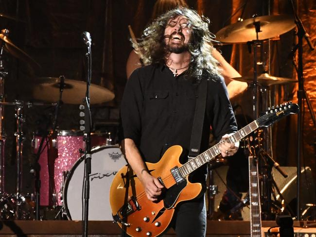 Dave Grohl: the drumming DNA is strong in the family. Picture: Chris Pizzello/Invision/AP.
