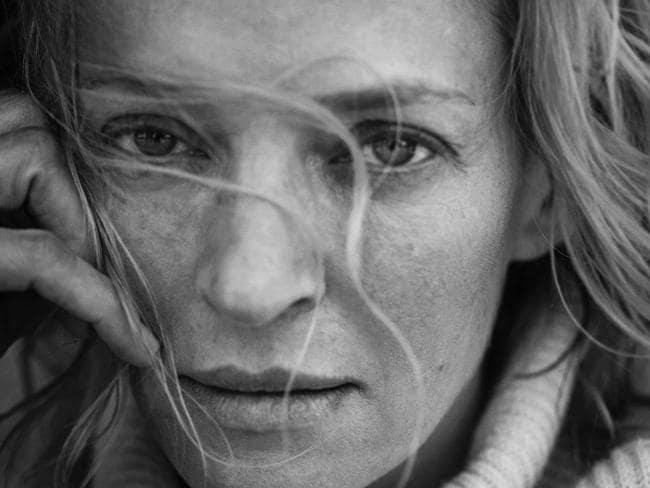 Uma Thurman also features in the calendar. Picture: Peter Lindbergh/EPA/Pirelli