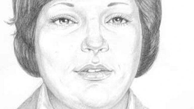 The unidentified woman in a police sketch.